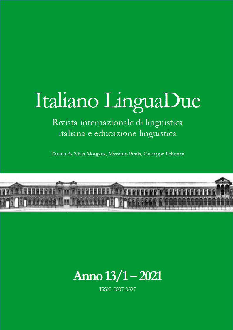 Visualizza V. 13 N. 1 (2021): ITALIANO LINGUADUE