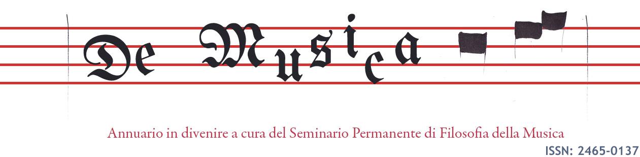 Annuario in divenire del Seminario Permanente di Filosofia della musica
