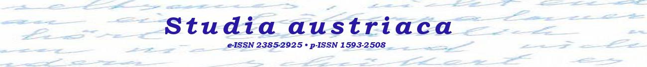 -- Studia austriaca e-ISSN 2385-2925 | p-ISSN 1593-2508