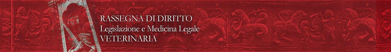 Logo Rassegna di Diritto, Legislazione e Medicina Legale Veterinaria