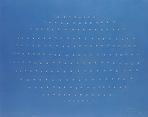 """Lucio Fontana, """"Concetto Spaziale"""", 1968, idropittura su tela, 73 x 92 cm., cat. gen. 68 B 16, © Fondazione Lucio Fontana, Milano"""