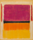 "Mark Rothko, ""Untitled (Violet, Black, Orange, Yellow on White and Red),"" 1949: oil on canvas, 81 ½ x 66 inches (207 x 167.6 cm) - Solomon R. Guggenheim Museum, New York: Gift, Elaine and Werner Dannheisser and The Dannheisser Foundation, 1978: 78.2461"
