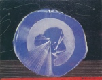 """Max Ernst, """"Fleur Bleue,"""" non datée, vers 1964, huile sur bois, 21,2 x 27 cm. - Inv. Fondation des Treilles 990.110 - Photographie par Jacqueline Hyde (1922-2013)"""