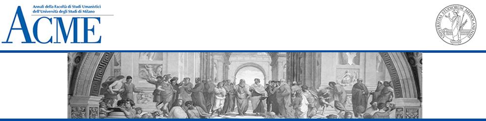 ACME - Annali della Facoltà di Studi Umanistici dell'Università degli Studi di Milano