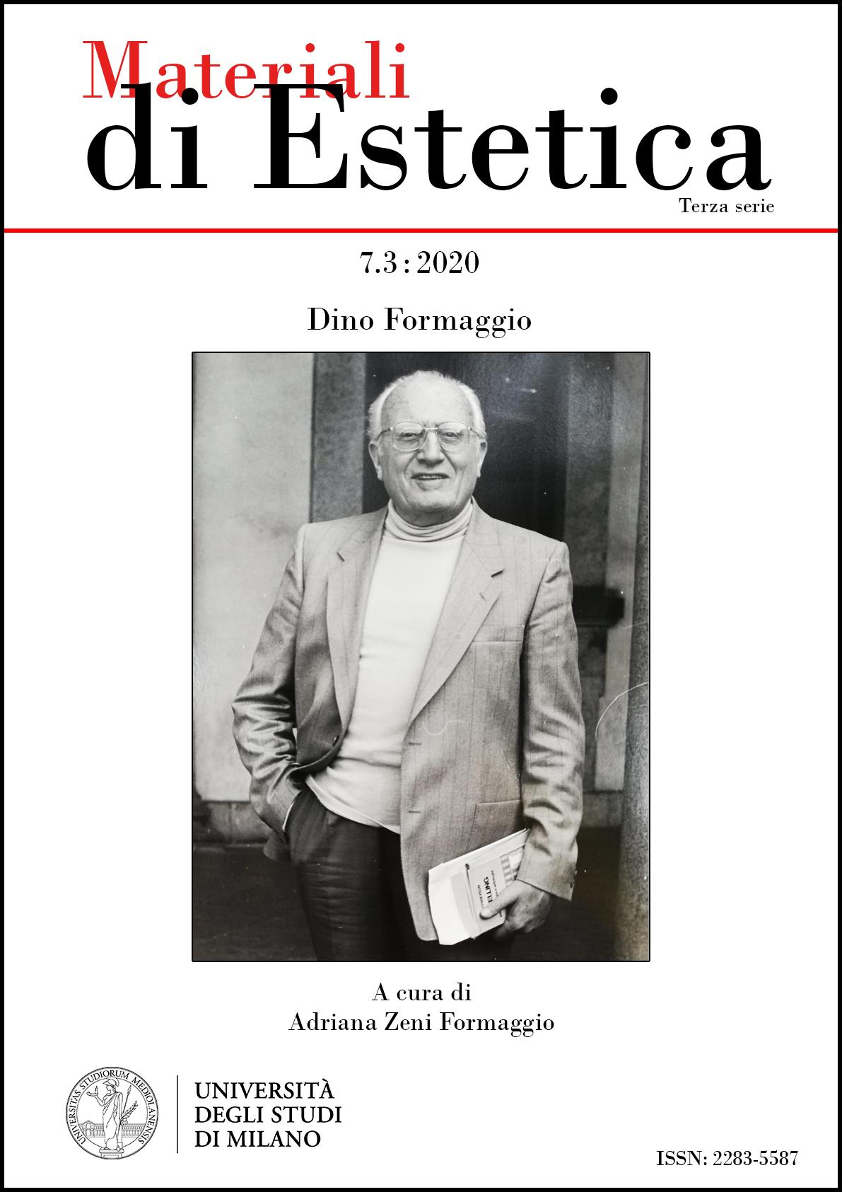 Visualizza N. 7.3 (2020): Dino Formaggio
