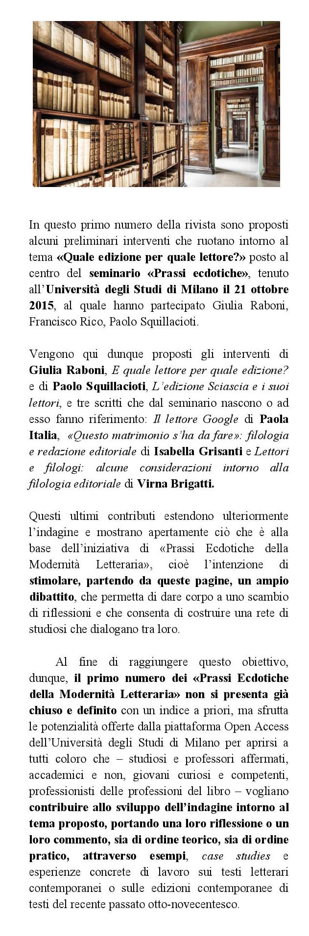 Prassi ecdotiche della modernit letteraria prassi ecdotiche della modernit letteraria - Amori diversi testo ...