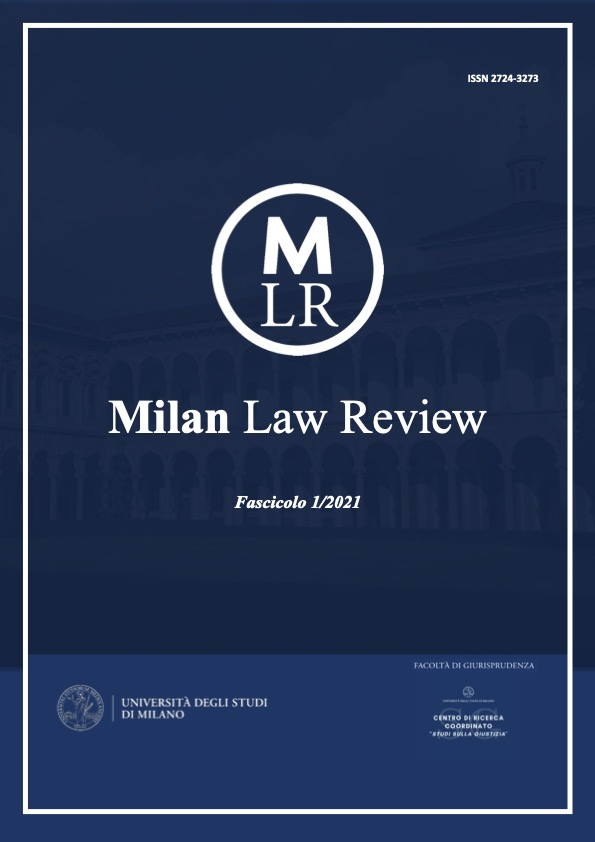 Visualizza V. 2 N. 1 (2021): Milan Law Review